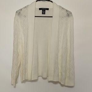 89th & Madison cream sweater cardigan sz XL